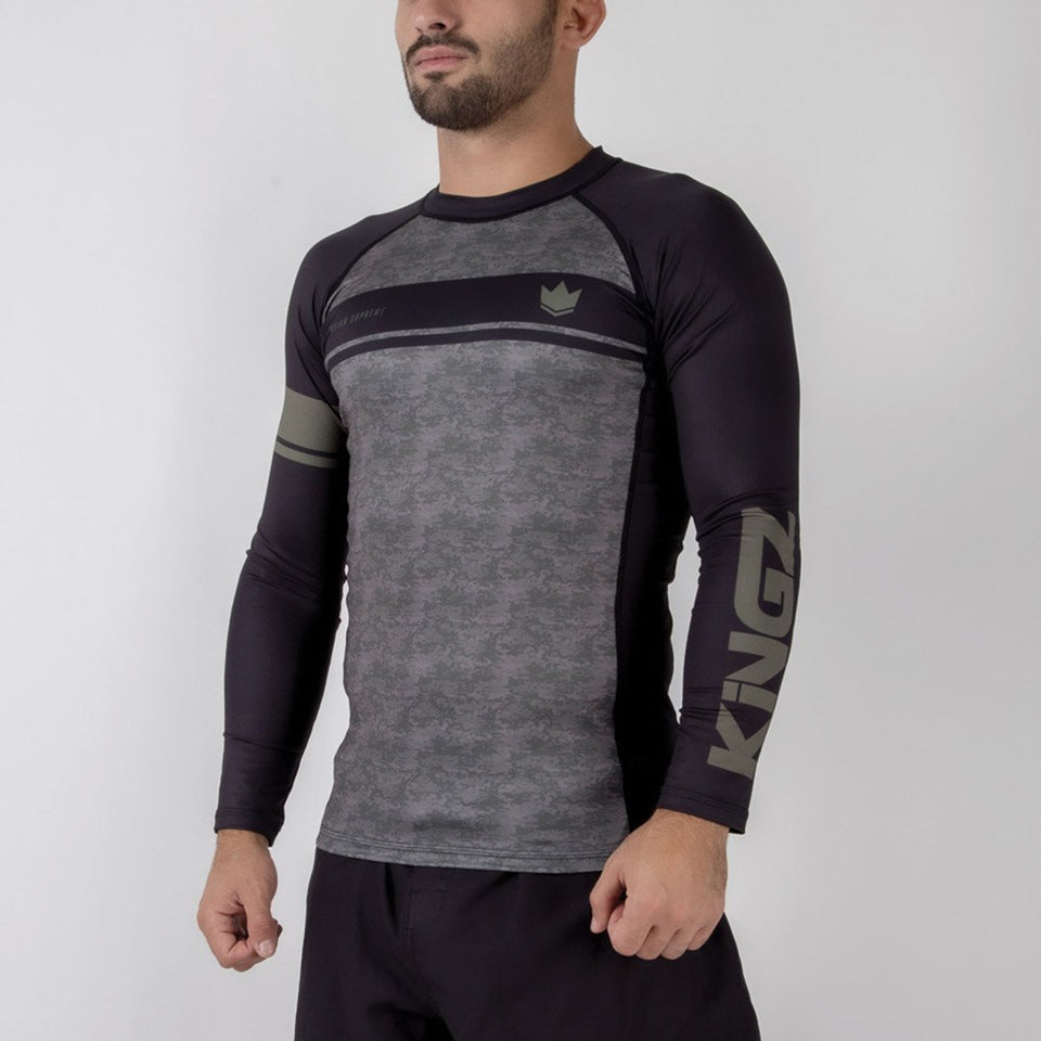 Kingz Digital Camo L/S Rash Guard - Fighters Market