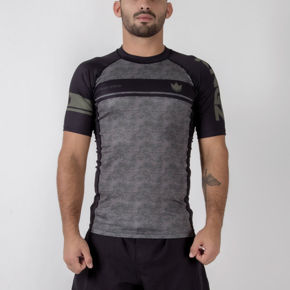 Kingz Digital Camo S/S Rash Guard - Fighters Market