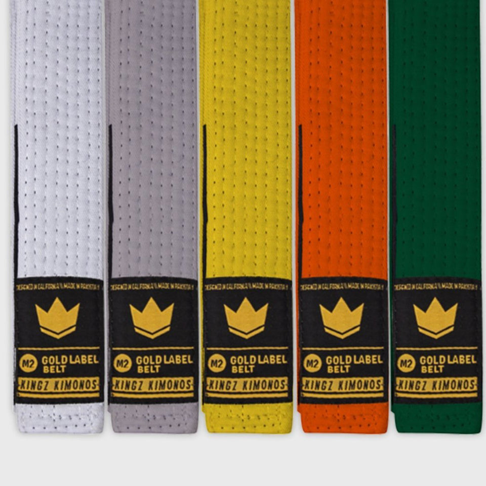 Kingz Gold Label V2 Kids Belt - Solid Color - Fighters Market