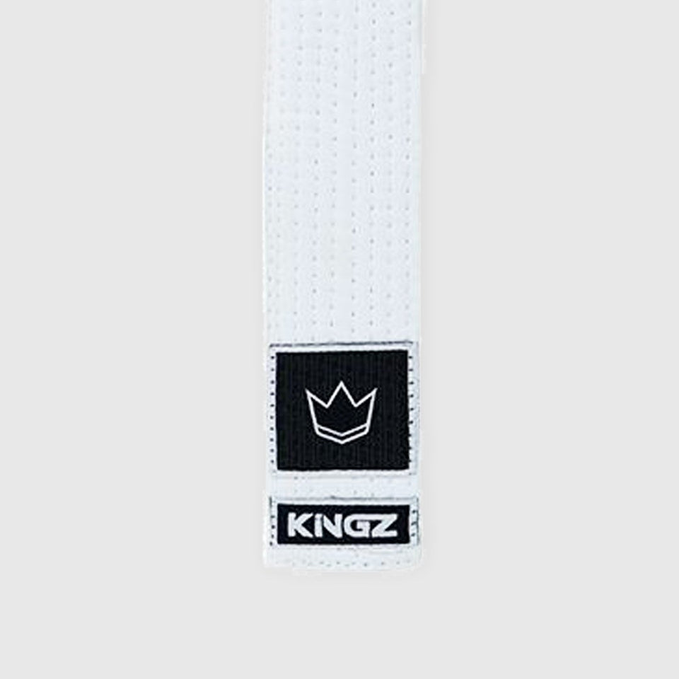 Kingz White BJJ Belt - Kids - Fighters Market