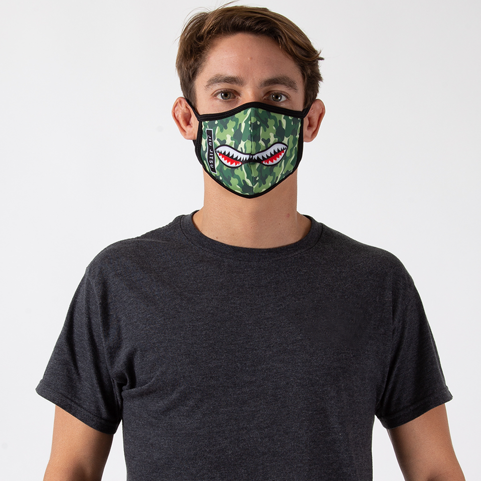 Camo Shark - Unisex Face Mask - Fighters Market