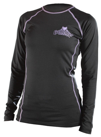 Gameness Female Top Dog Long Sleeve Rash Guard - Black - Fighters Market