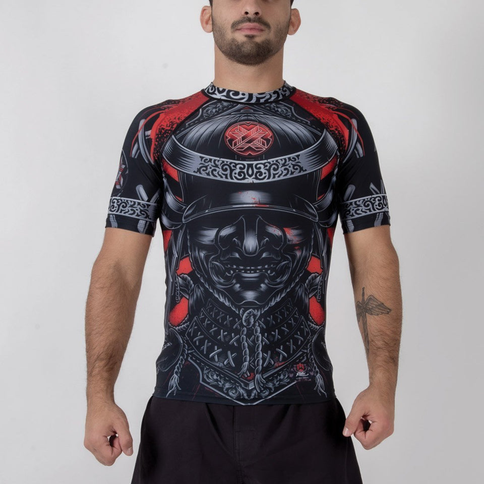 Ronin Samurai Blackout Short Sleeve Rash Guard - Fighters Market