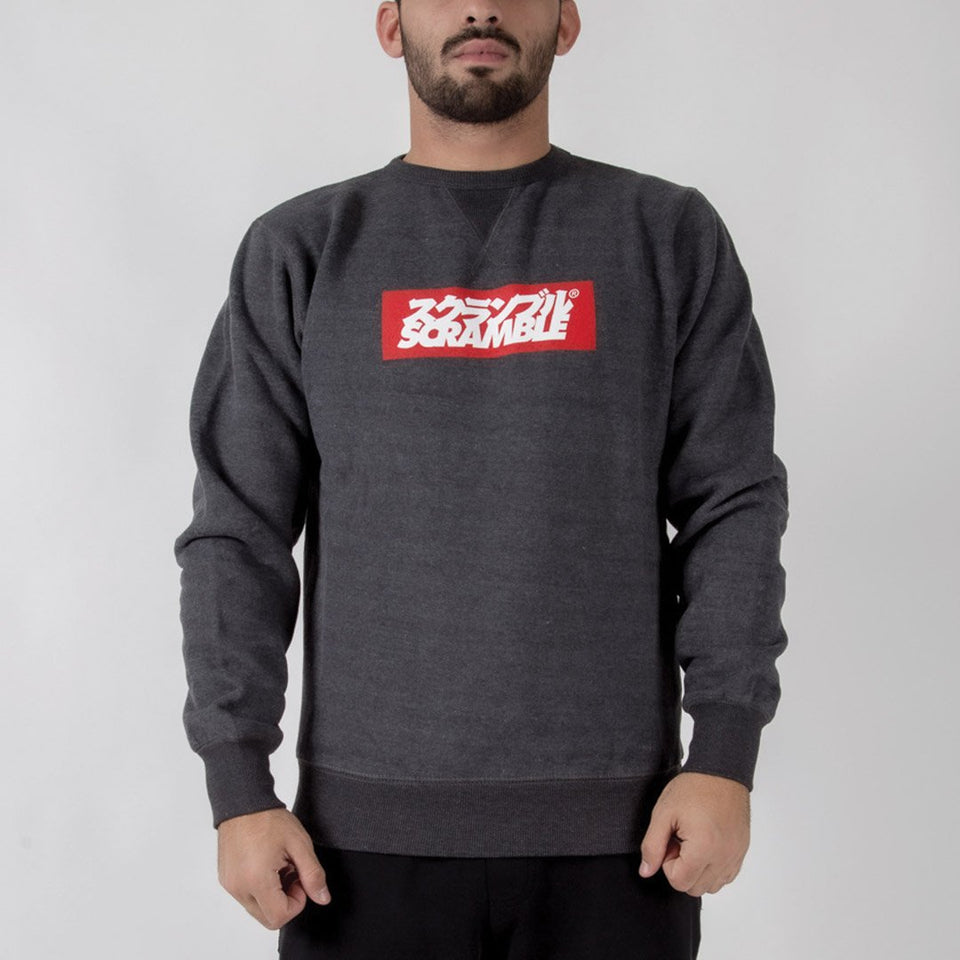 Scramble Box Logo Crew Neck Sweater - Fighters Market