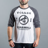 Scramble Brush Logo Raglan Tee