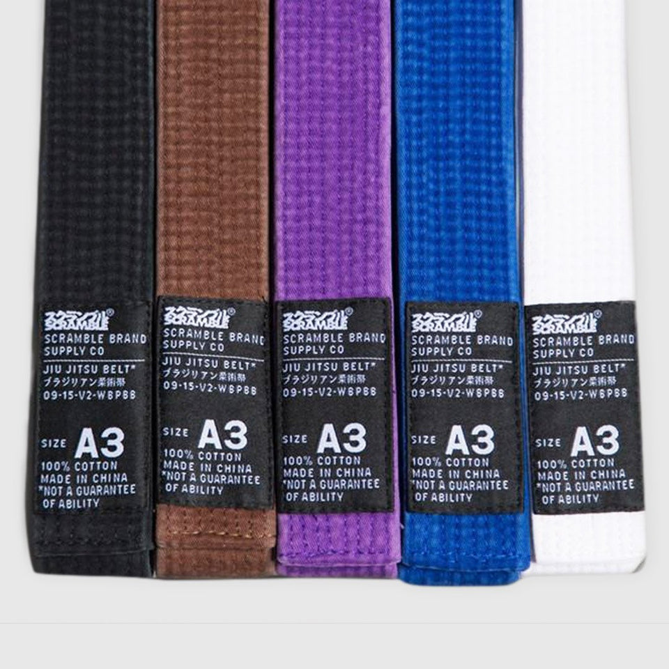 Scramble V2 Brazilian Jiu Jitsu Belt - Fighters Market
