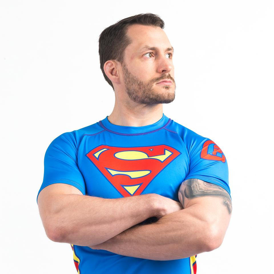 Fusion FG Superman Logo S/S Rash Guard - bjj sports