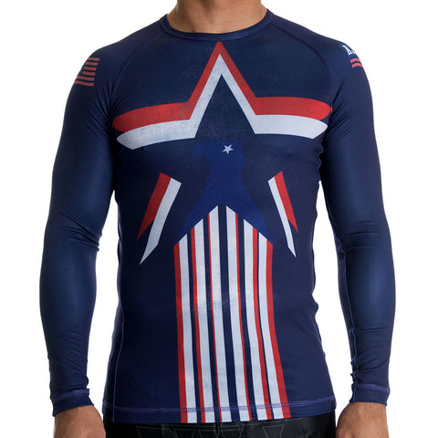 American Jiu Jitsu Stars N Stripes Rash Guard - Fighters Market