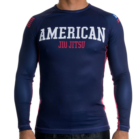 American Jiu Jitsu Rash Guard - Fighters Market