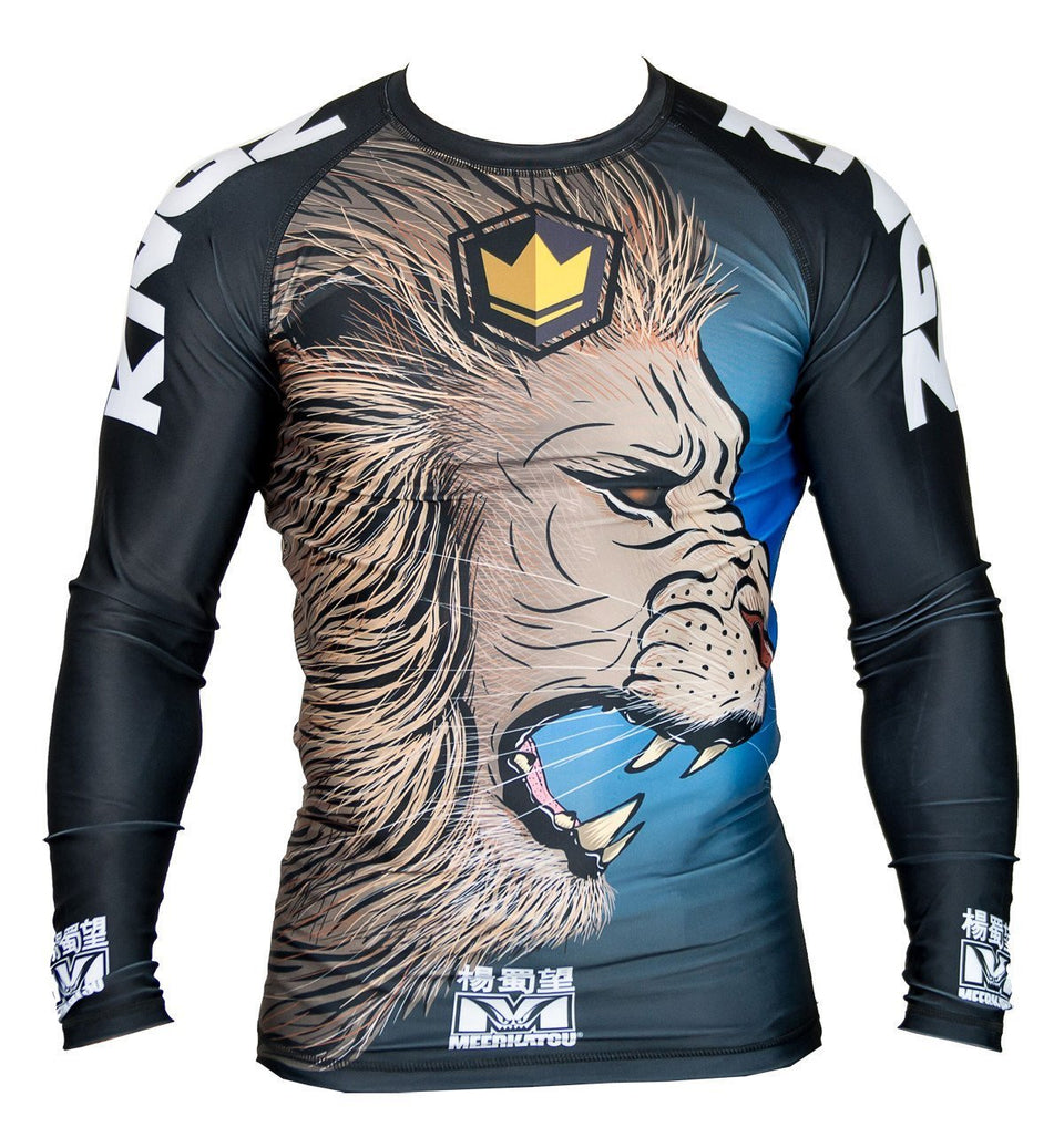 Kingz No-Gi & Compression Kingz Royal Lion V2 L/S Rash Guard by Meerkatsu - Retail Version
