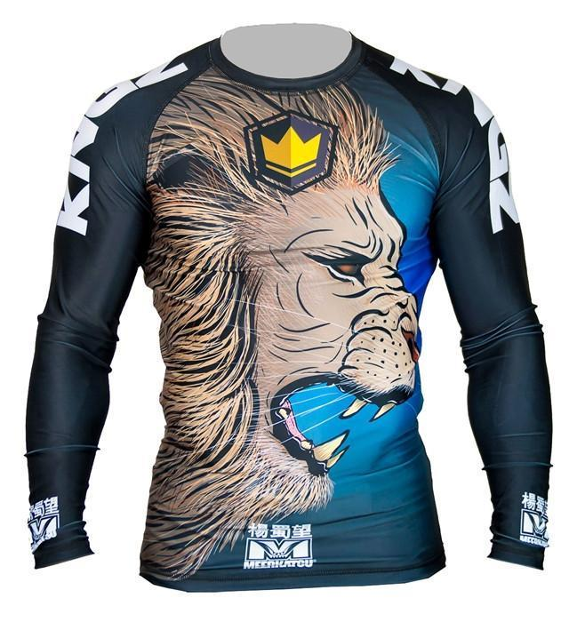 Kingz No-Gi & Compression L Kingz Royal Lion V2 L/S Rash Guard by Meerkatsu - Retail Version