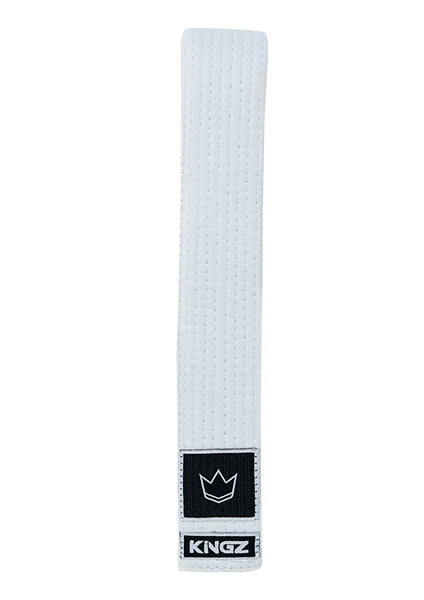 Kingz White BJJ Belt