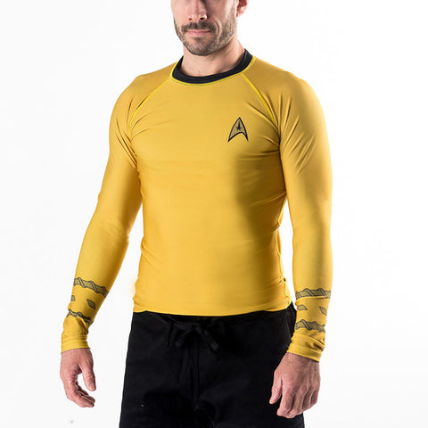 Fusion FG Star Trek Classic Uniform Rash Guard - Gold - Fighters Market