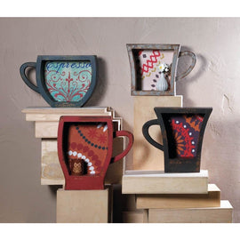 Blue Espresso Coffee Cup Shelf - G Street Furniture Rockville Free delivery maryland dc virginia