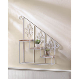 White Stepped Triple Plant Stand - G Street Furniture Rockville Free delivery maryland dc virginia