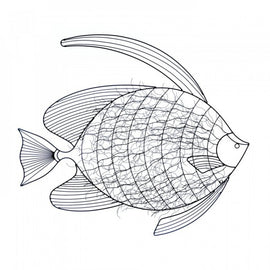 Intricate Fish Wall Decor - G Street Furniture Rockville Free delivery maryland dc virginia