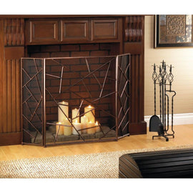 Modern Geometric Fireplace Screen - G Street Furniture Rockville Free delivery maryland dc virginia