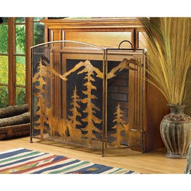Rustic Forest Fireplace Screen - G Street Furniture Rockville Free delivery maryland dc virginia