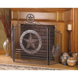 Lone Star Fireplace Screen - G Street Furniture Rockville Free delivery maryland dc virginia