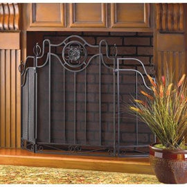 Tuscan-design Fireplace Screen - G Street Furniture Rockville Free delivery maryland dc virginia