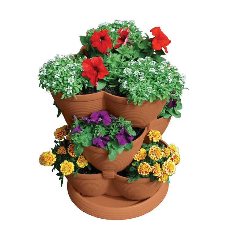 30-Quart Stacking Pot Planter in U.V. Protected Plastic