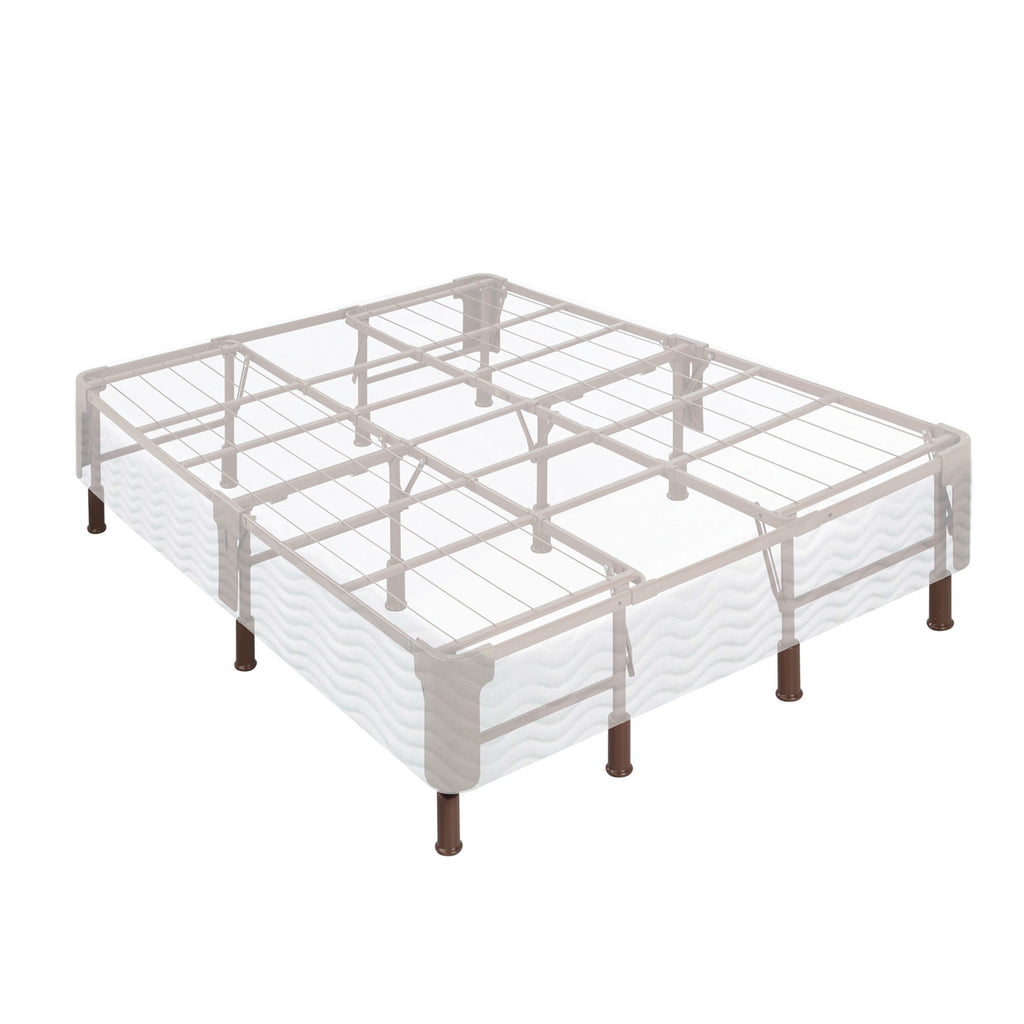 14 Inch 2-in-1 Box-Spring Foundation Bed Frame in California King