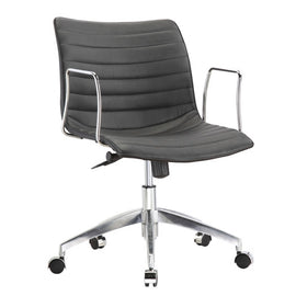 Black Mid-Back Modern Mid-Century Style Comfortable Office Chair - G Street Furniture Rockville Free delivery maryland dc virginia