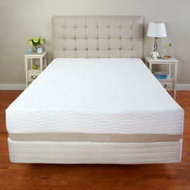 Full size Medium Firm 11-inch Tri-Zone Latex Foam Mattress with Cotton Cover