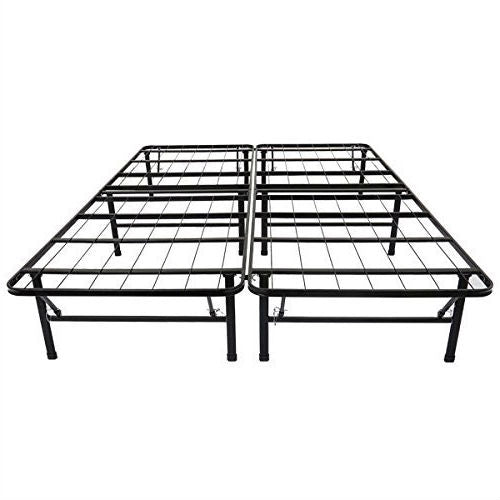 Full size Black Metal Platform Bed Frame