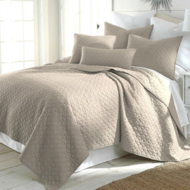 Full / Queen size 100-Percent Cotton Quilt Set with 2 Shams in Taupe - G Street Furniture Rockville Free delivery maryland dc virginia