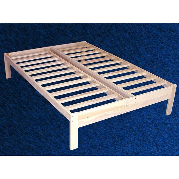 Full size Unfinished Wood Platform Bed Frame with Wooden Slats
