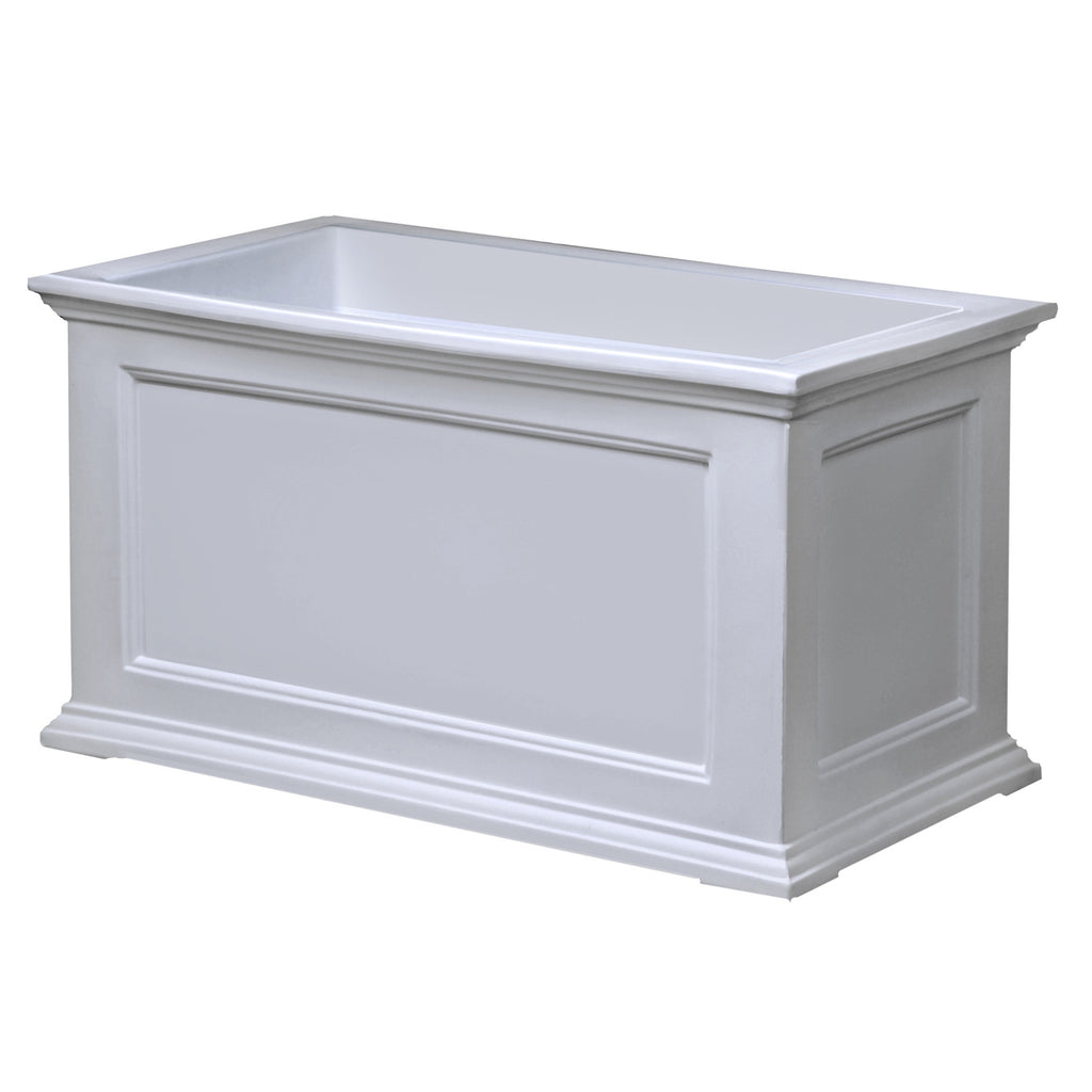 20 x 36 inch Patio Planter in White - Made in USA