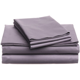 CAL King 400 Thread Count Cotton Sheet Set in Plum Purple - G Street Furniture Rockville Free delivery maryland dc virginia