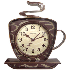 Westclox Coffee Time 3-dimensional Wall Clock - G Street Furniture Rockville Free delivery maryland dc virginia