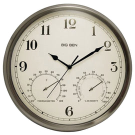 Westclox Indoor And Outdoor Clock With Temperature & Humidity Gauges - G Street Furniture Rockville Free delivery maryland dc virginia