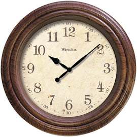 "Westclox 10"" Realistic Woodgrain Wall Clock - G Street Furniture Rockville Free delivery maryland dc virginia"