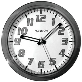"Westclox 7.75"" Translucent Wall Clock (black) - G Street Furniture Rockville Free delivery maryland dc virginia"