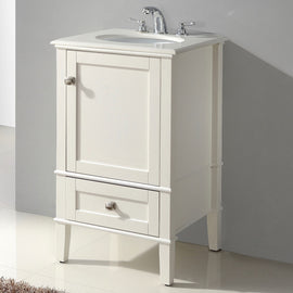 21-inch Single Bathroom Vanity Set with Off-White Marble Top - G Street Furniture Rockville Free delivery maryland dc virginia