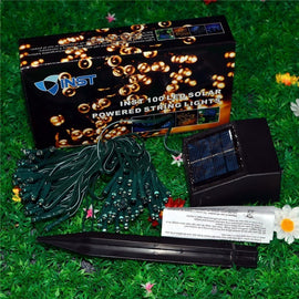 Solar LED String Light 55ft Ambiance Lighting Christmas Lights