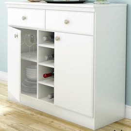 White Dining Room Sideboard Buffet Console Table with 2 Drawers - G Street Furniture Rockville Free delivery maryland dc virginia