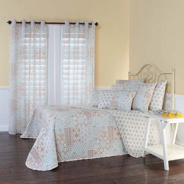 Full size Reversible Quilted Bedspread with Paisley Pattern - G Street Furniture Rockville Free delivery maryland dc virginia
