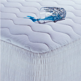 Full size Cotton Waterproof Mattress Pad with Hypoallergenic Fill