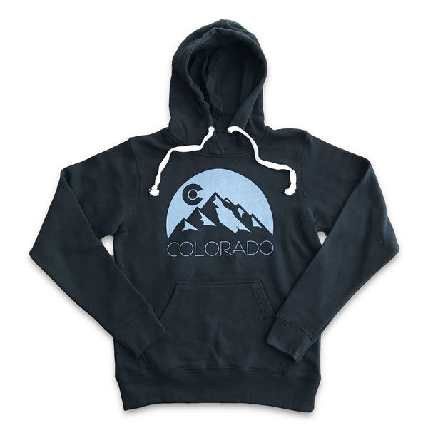 Black Colorado Mountain Hoodie