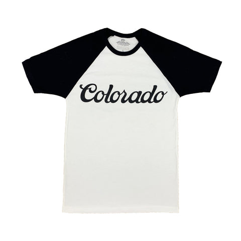 Black and White Colorado Koolaid Raglan Tee