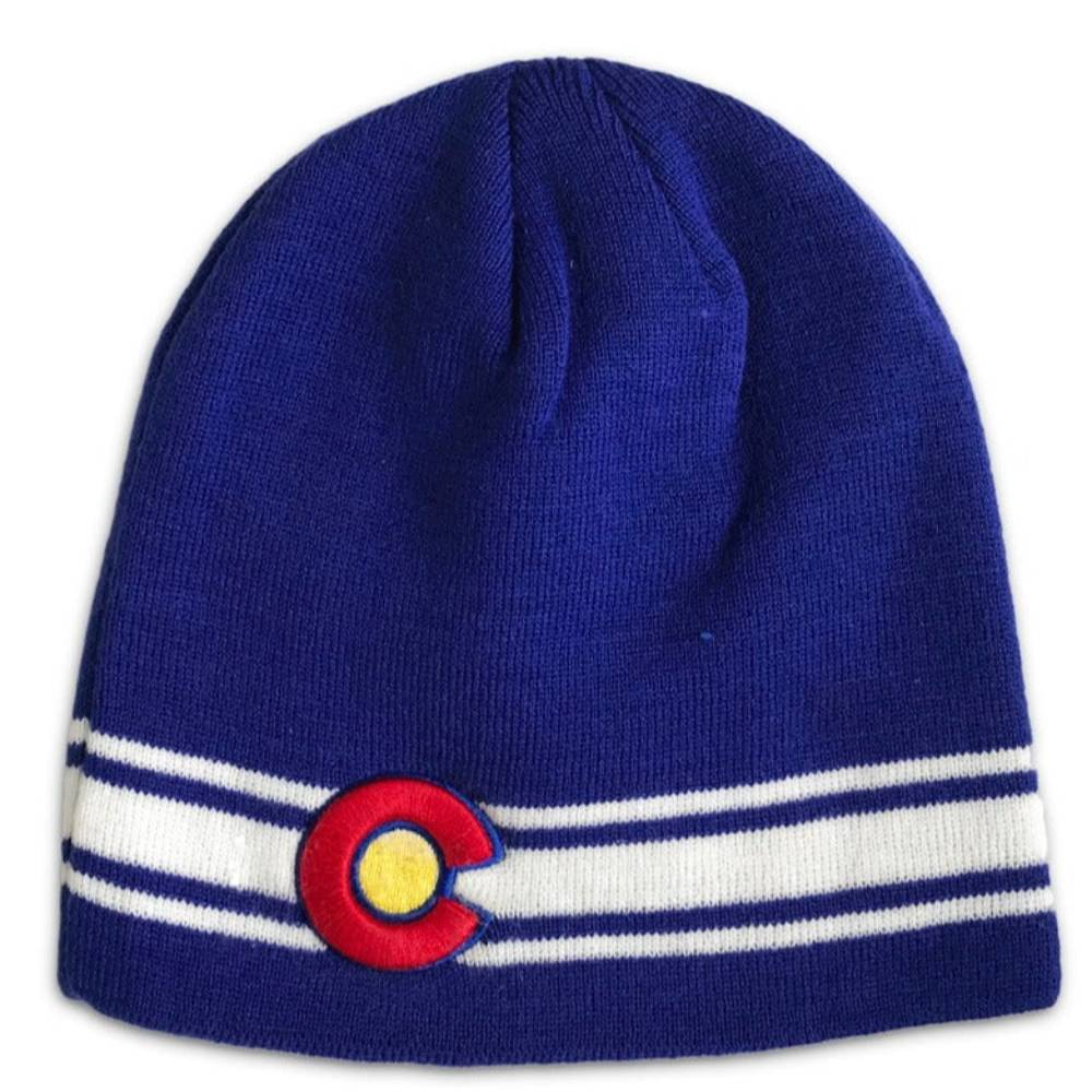 Blue Colorado Flag Beanie
