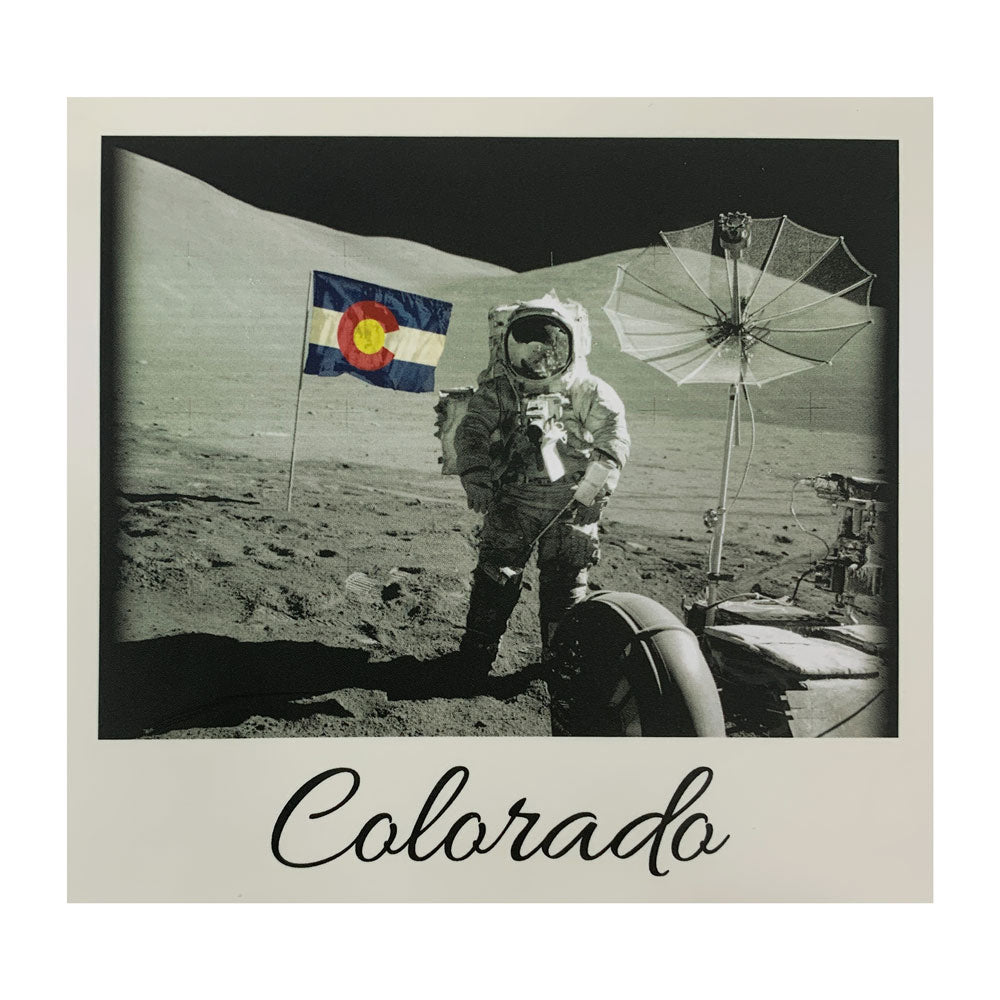 Colorado Moon Man Sticker