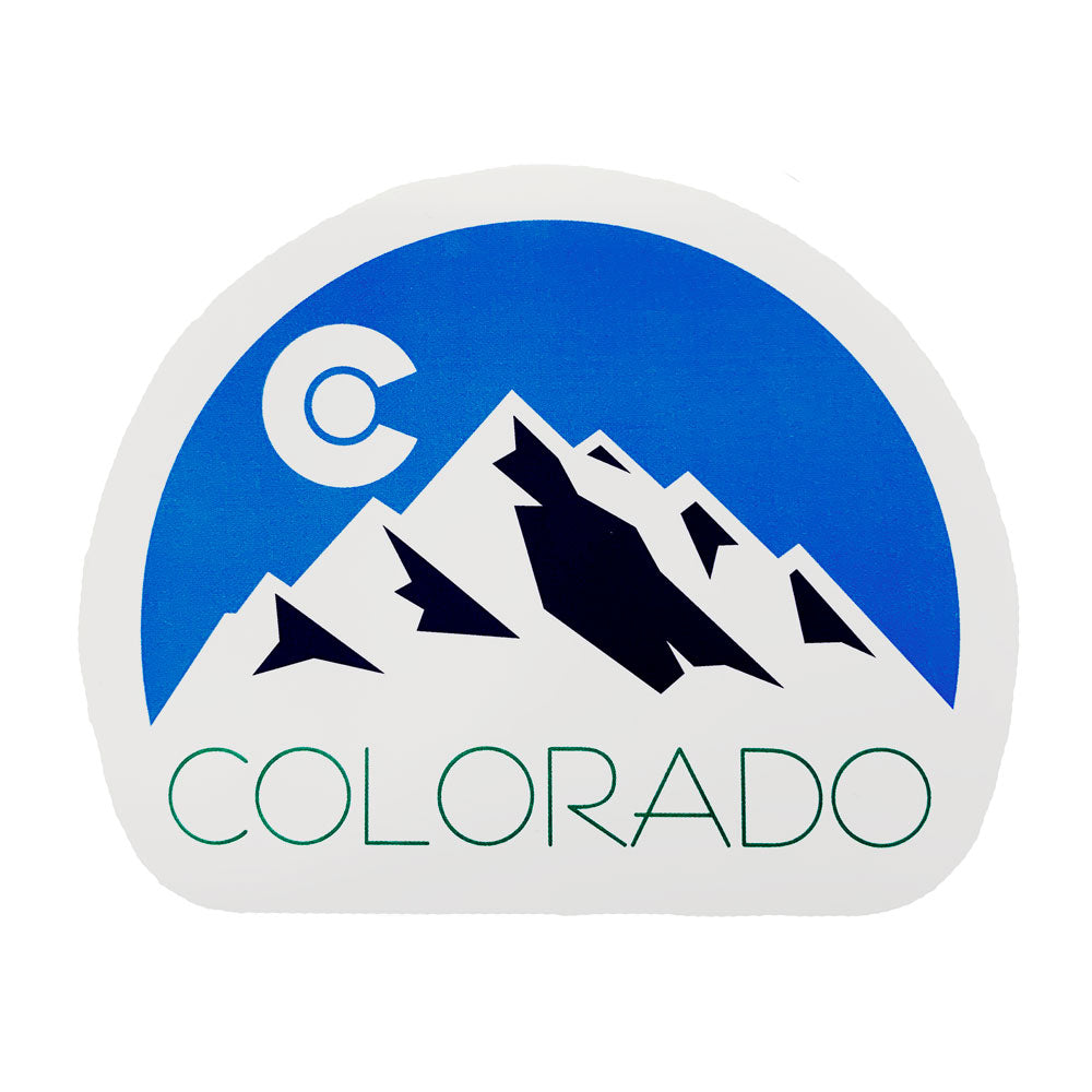 Colorado White Dome Sticker