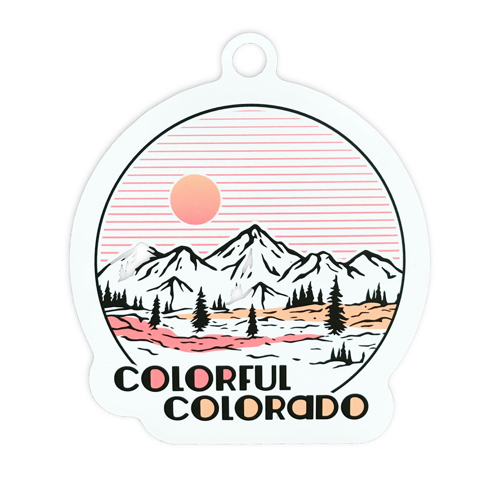 Colorful Colorado Sticker - White