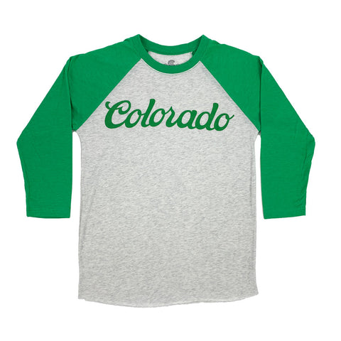 Green Colorado Koolaid Baseball Tee
