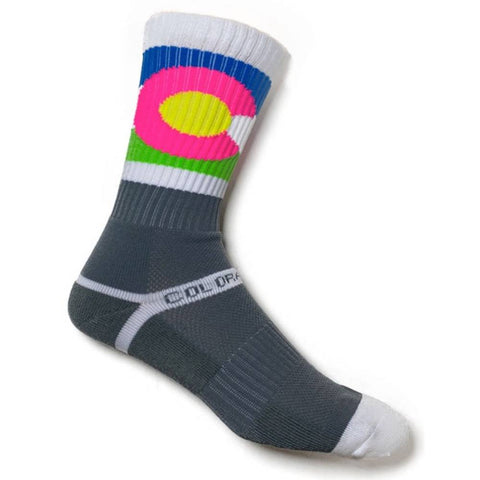 Neon and Grey Colorado Knit Socks - Unisex